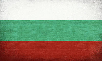 Flag Of Bulgaria Grunge Art Print
