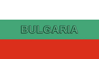 Flag Of Bulgaria Word Art Print