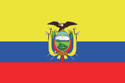 Condor Digital Art - Flag Of Ecuador by Roy Pedersen