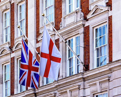 Photograph - Flag Of England And The Union Jack On The Georgian Facade by Jacek Wojnarowski
