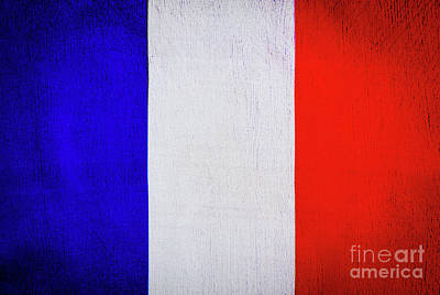 Photograph - Flag Of France by Anna Om