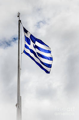 Photograph - Flag Of Greece by Debra Martz