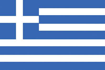 Greek Icon Digital Art - Flag Of Greece by Roy Pedersen