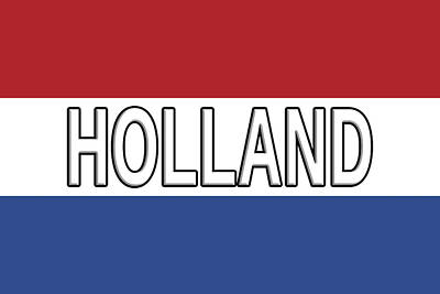 Flag Of Holland With Text Art Print by Roy Pedersen