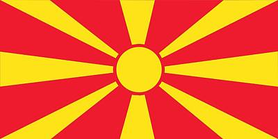 Patriotism Painting - Flag Of Macedonia by Unknown