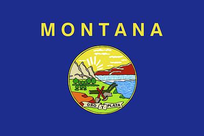 State Of Montana Digital Art - Flag Of Montana by Roy Pedersen