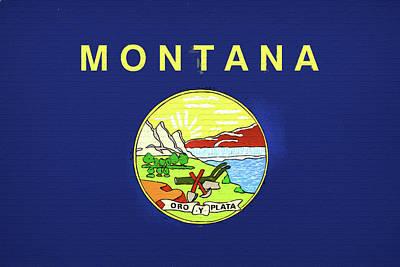 State Of Montana Digital Art - Flag Of Montana Wall by Roy Pedersen