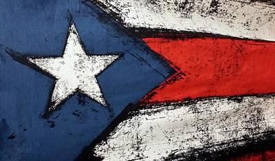 Flag Of Puerto Rico  Art Print by Rob Hans