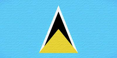 Flag Of Saint Lucia Wall Art Print