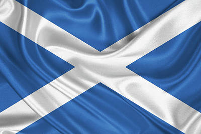 Digital Art - Flag Of Scotland by Serge Averbukh
