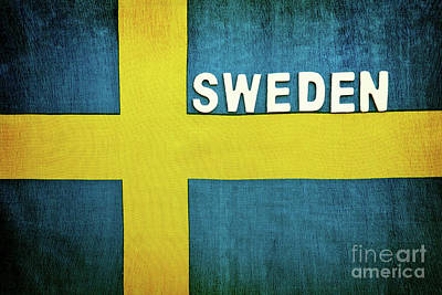 Photograph - Flag Of Sweden by Anna Om