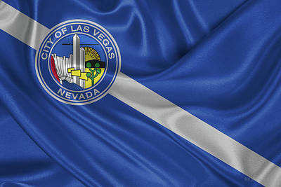 Digital Art - Flag Of The City Of Las Vegas by Serge Averbukh