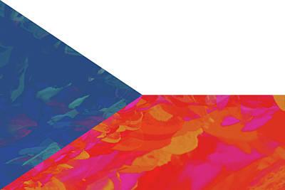 Flag Of The Czech Republic Colorful Art Print