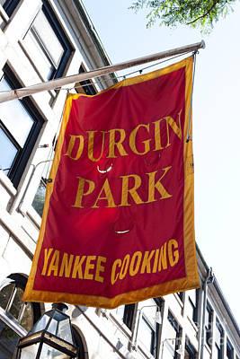 Flag Of The Historic Durgin Park Restaurant Art Print