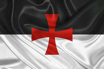Digital Art - Flag Of The Knights Templar by Serge Averbukh
