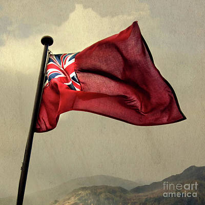 Fell Digital Art - Flag Of The Red Ensign by Linsey Williams