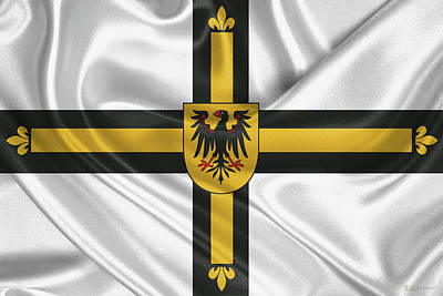 Digital Art - Flag Of The Teutonic Order  by Serge Averbukh