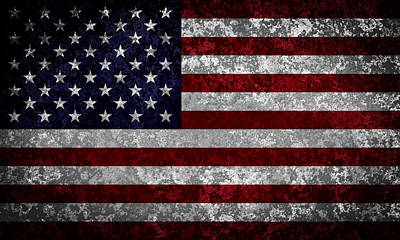 Democracy Digital Art - Flag Of The United States by Martin Capek
