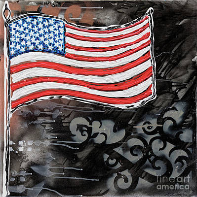 Painting - Flag Of The United States Of America by Sheila McPhee