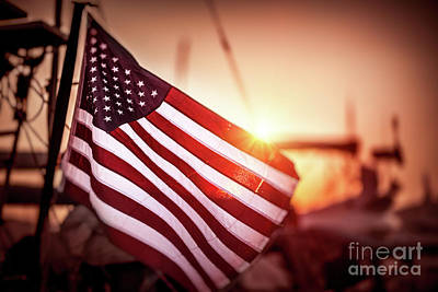 Photograph - Flag Of United States Of America by Anna Om