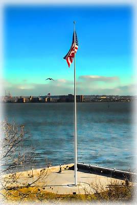 Photograph - Flag On Ellis Island by Dyle   Warren