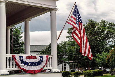 Photograph - Flag On Ruckman Road by Jerry Gammon