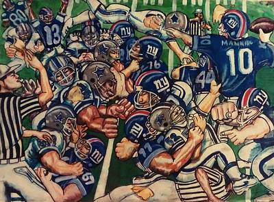 Dallas Cowboys Drawing - Flag On The Play by Sylvester Wofford