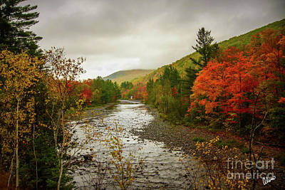 Photograph - Flag Over Carrabassett River by Alana Ranney