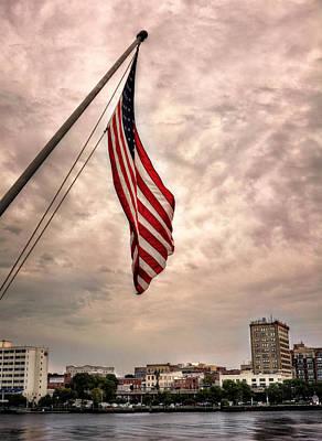 Flag Over Wilmington Art Print