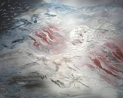 Painting - Flag Reflection by CA Simonson