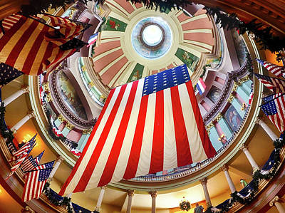 Photograph - Flag Rotunda by C H Apperson