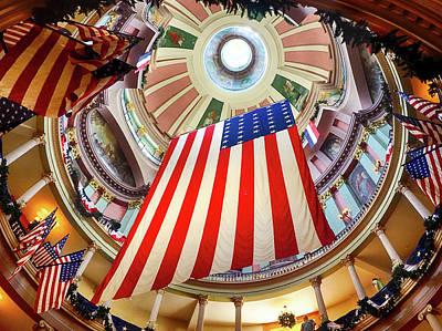 Photograph - Flag Rotunda by C H Apperson