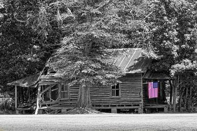 Photograph - Flag Still Waves by Victor Montgomery