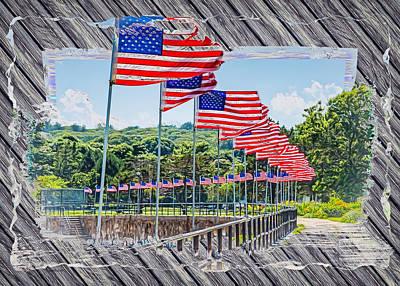 Decoupage Photograph - Flag Walk 2 by John M Bailey