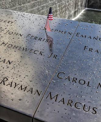 Flag World Trade Center Memorial July 4 2015 Art Print by Robert Ullmann
