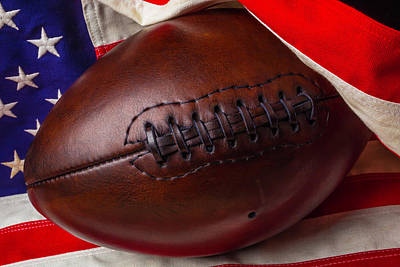 Photograph - Flag Wrapped Football by Garry Gay
