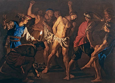 Flagellation Painting - Flagellation Of Christ by Matthias Stom