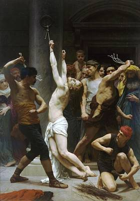 Flagellation Painting - Flagellation Of Christ by Pg Reproductions