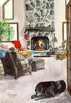 Painting - Christmas 2011 by Carol Flagg