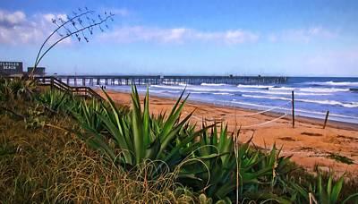 Photograph - Flagler Beach Lean by Alice Gipson