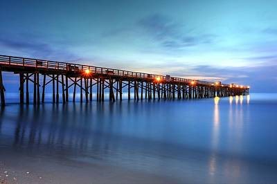 Photograph - Flagler Beach Pier's Early Morning Light  by Carol Montoya