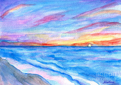 Painting - Flagler Beach Sunrise 2 by Roz Abellera Art