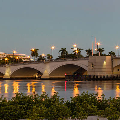 Photograph - Flagler Bridge In Lights II by Debra and Dave Vanderlaan