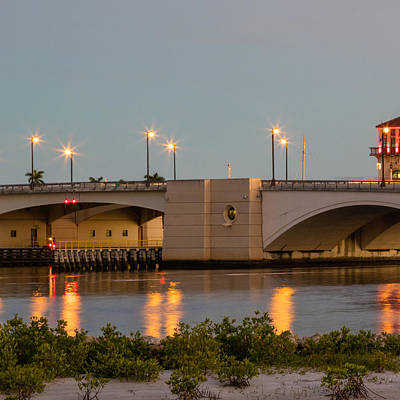 Photograph - Flagler Bridge In Lights IIi by Debra and Dave Vanderlaan