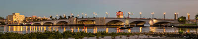 Photograph - Flagler Bridge In Lights Panorama by Debra and Dave Vanderlaan