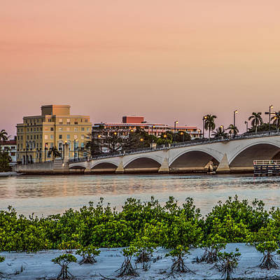 Photograph - Flagler Bridge In The Evening I by Debra and Dave Vanderlaan