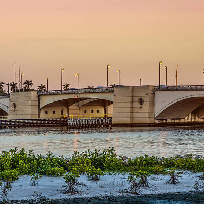 Photograph - Flagler Bridge In The Evening II by Debra and Dave Vanderlaan
