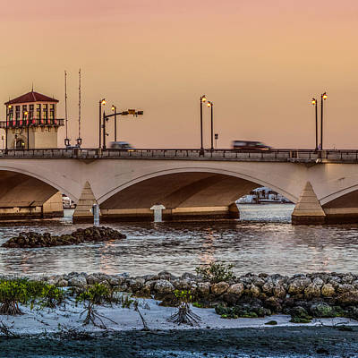 Photograph - Flagler Bridge In The Evening IIi by Debra and Dave Vanderlaan