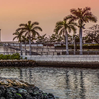 Photograph - Flagler Bridge In The Evening V by Debra and Dave Vanderlaan