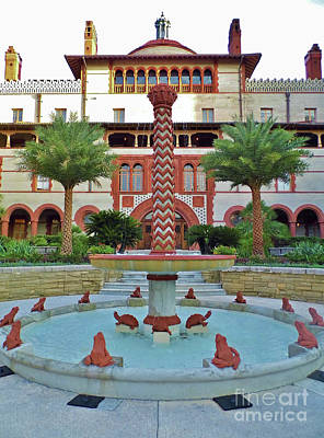 Photograph - Flagler College Fountain by D Hackett